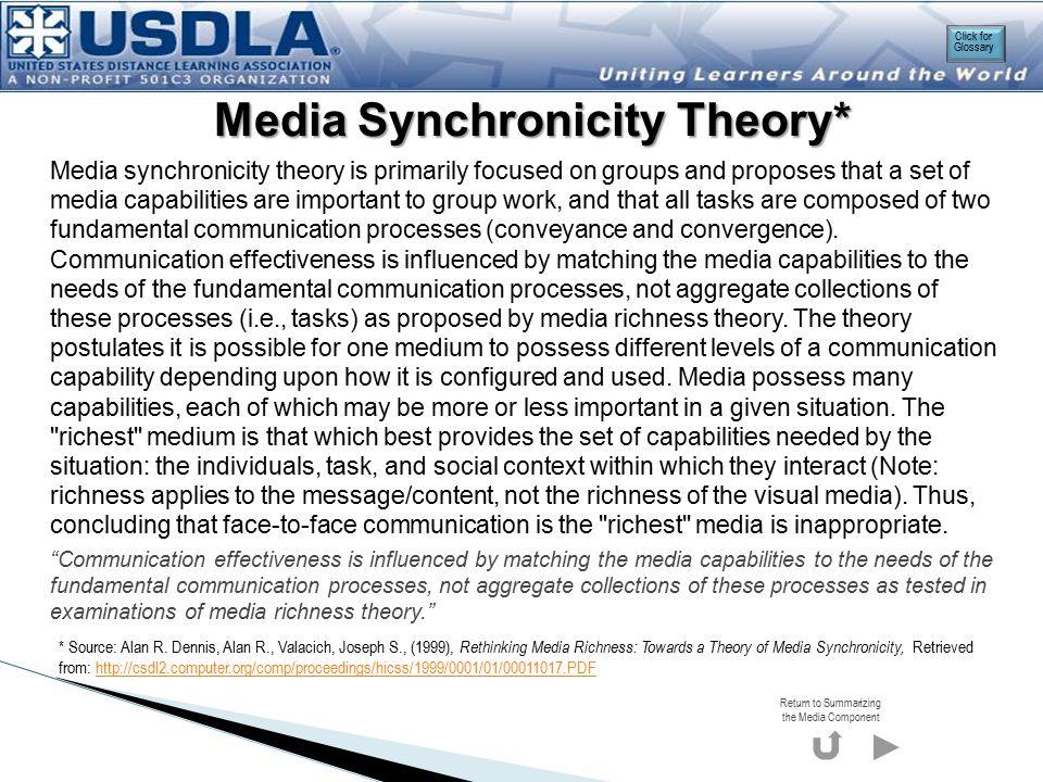 Media Synchronicity Theory*
