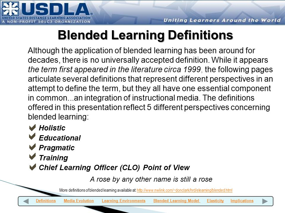 Blended Learning Definitions