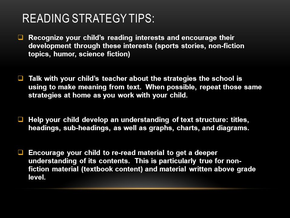Reading Strategy Tips: