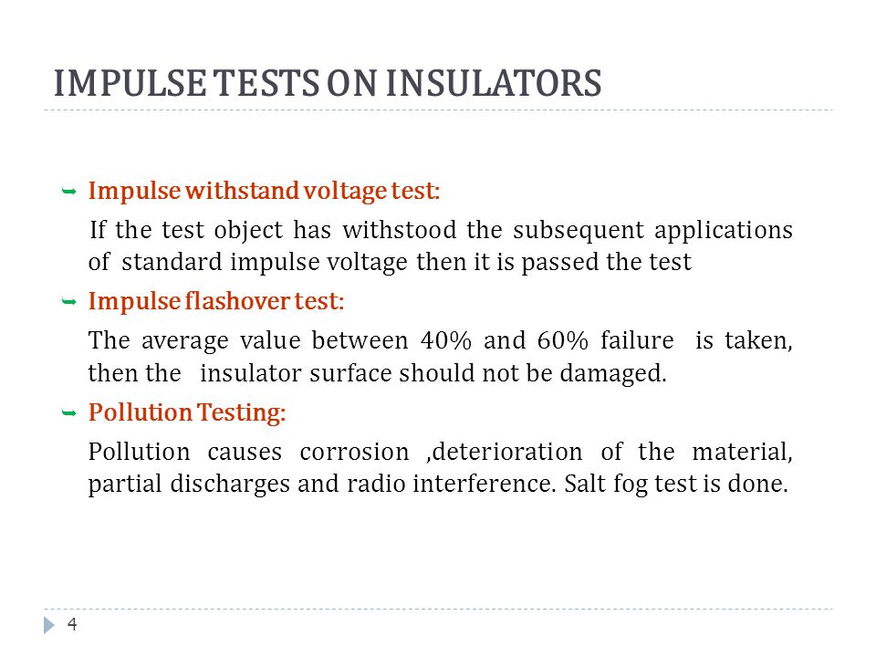 IMPULSE TESTS ON INSULATORS