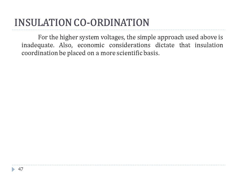 INSULATION CO-ORDINATION