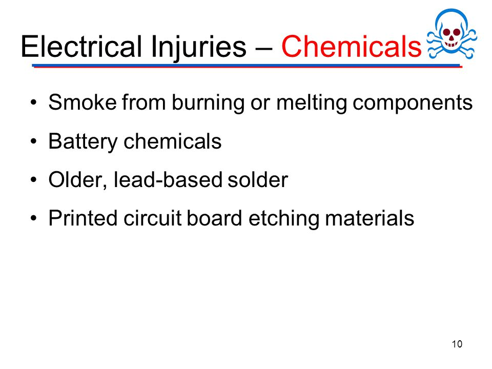 Electrical Injuries – Chemicals