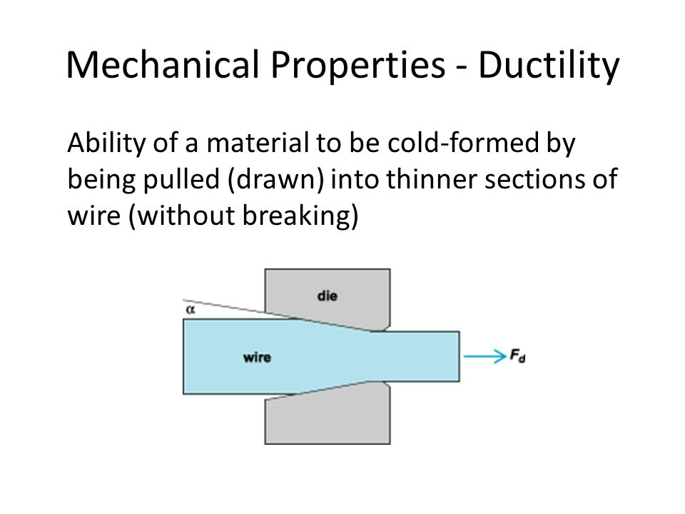 Mechanical Properties - Ductility
