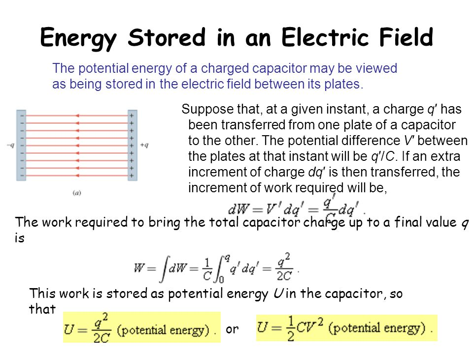 Energy Stored in an Electric Field