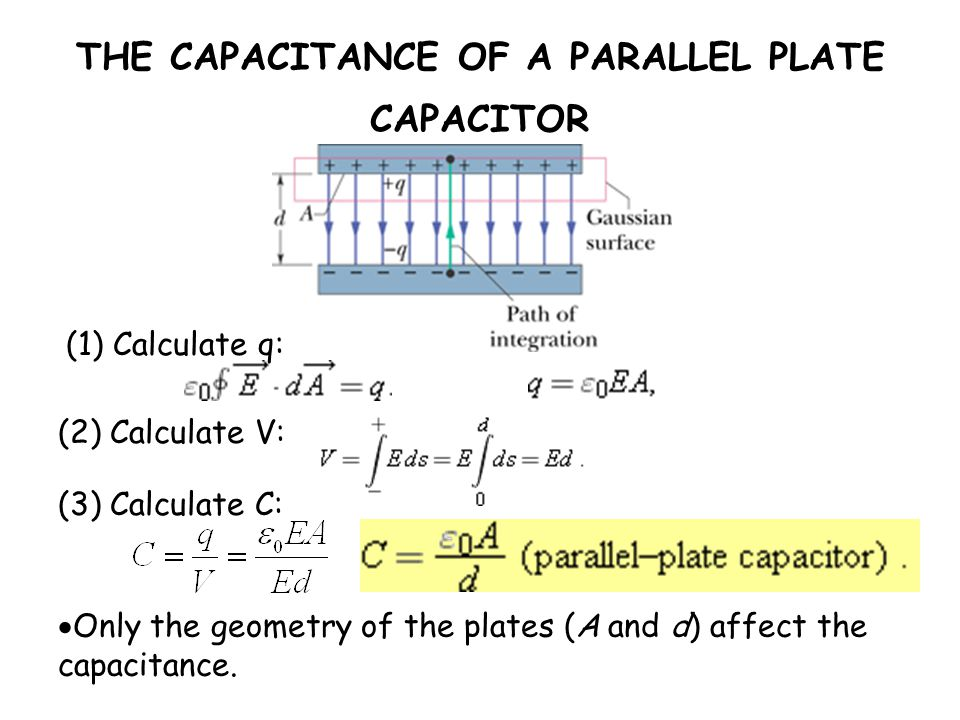 THE CAPACITANCE OF A PARALLEL PLATE CAPACITOR