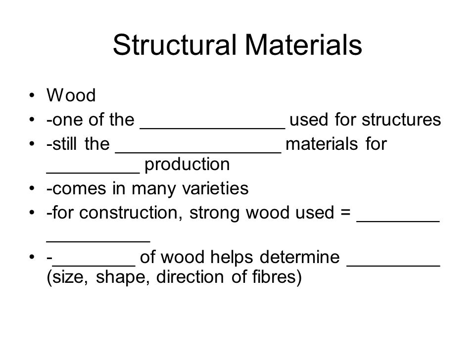 Structural Materials Wood