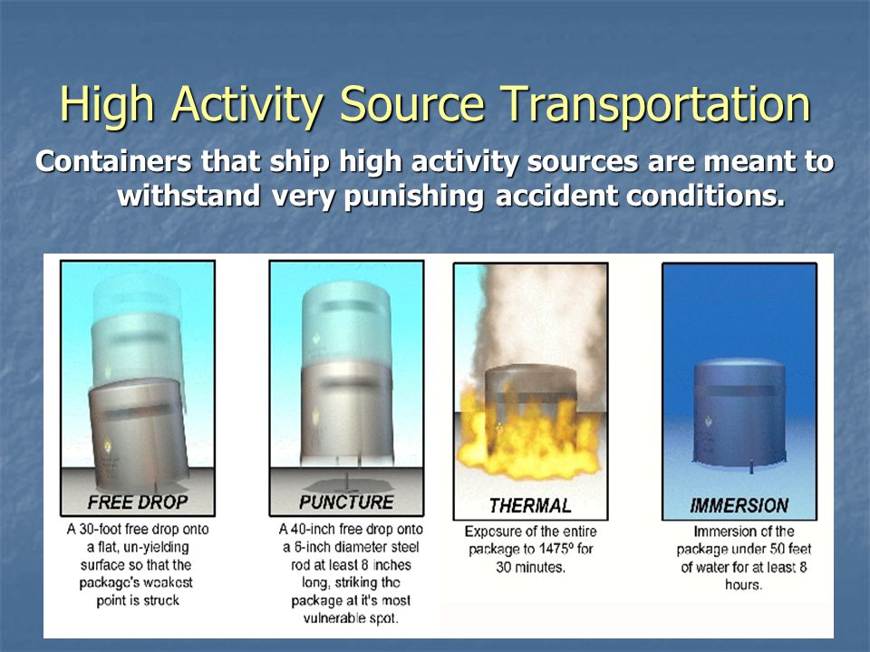 High Activity Source Transportation