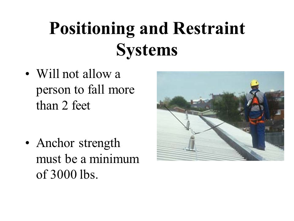 Positioning and Restraint Systems