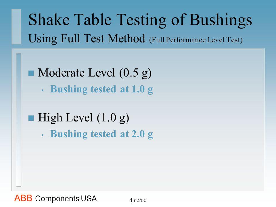 Shake Table Testing of Bushings Using Full Test Method (Full Performance Level Test)