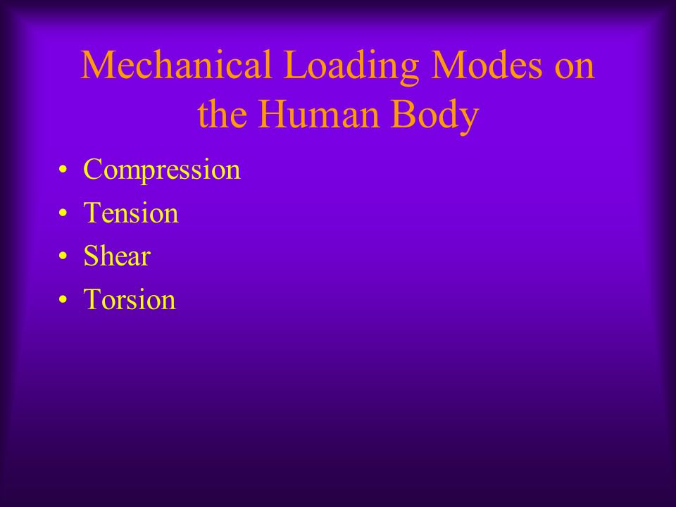 Mechanical Loading Modes on the Human Body