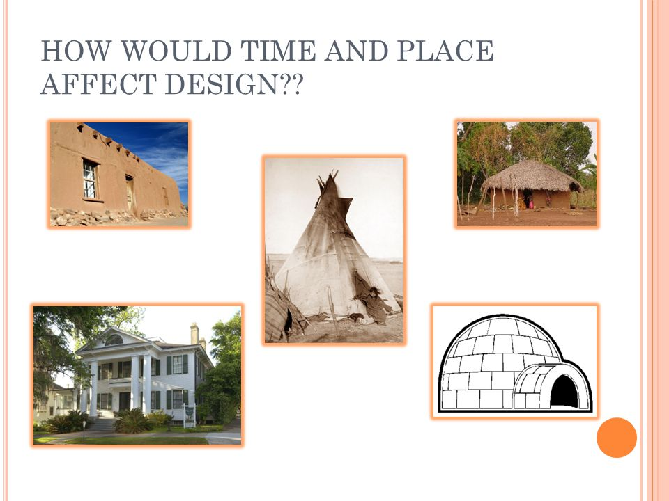 HOW WOULD TIME AND PLACE AFFECT DESIGN