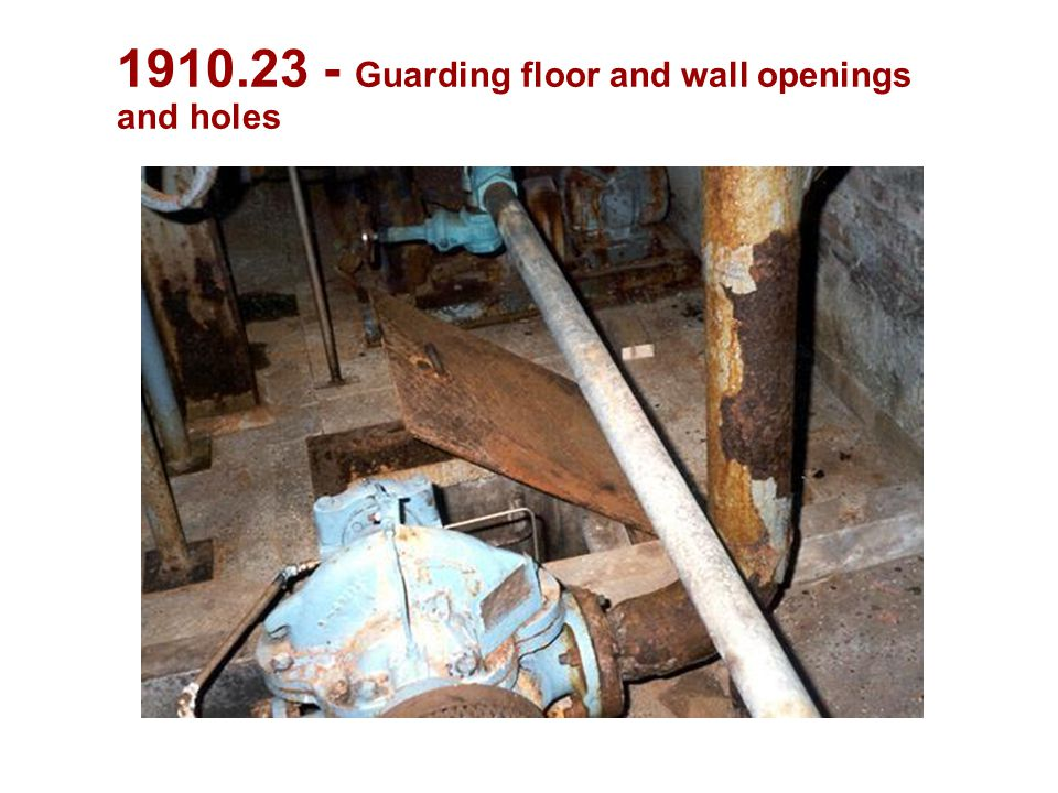 Guarding floor and wall openings