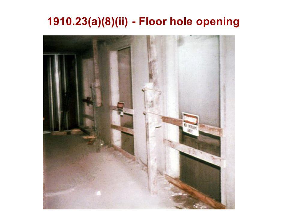 1910.23(a)(8)(ii) - Floor hole opening