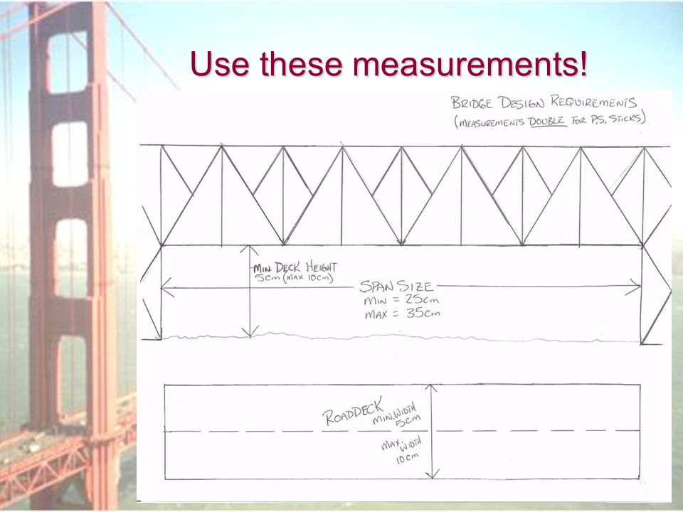 Use these measurements!
