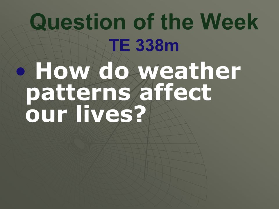 Question of the Week TE 338m