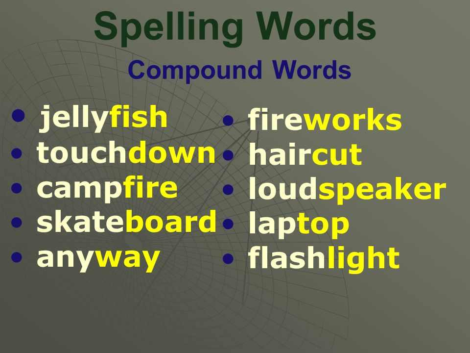 Spelling Words Compound Words