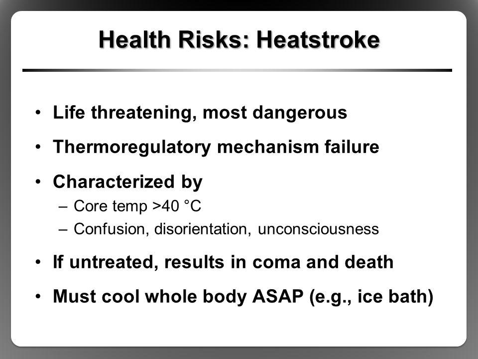 Health Risks: Heatstroke