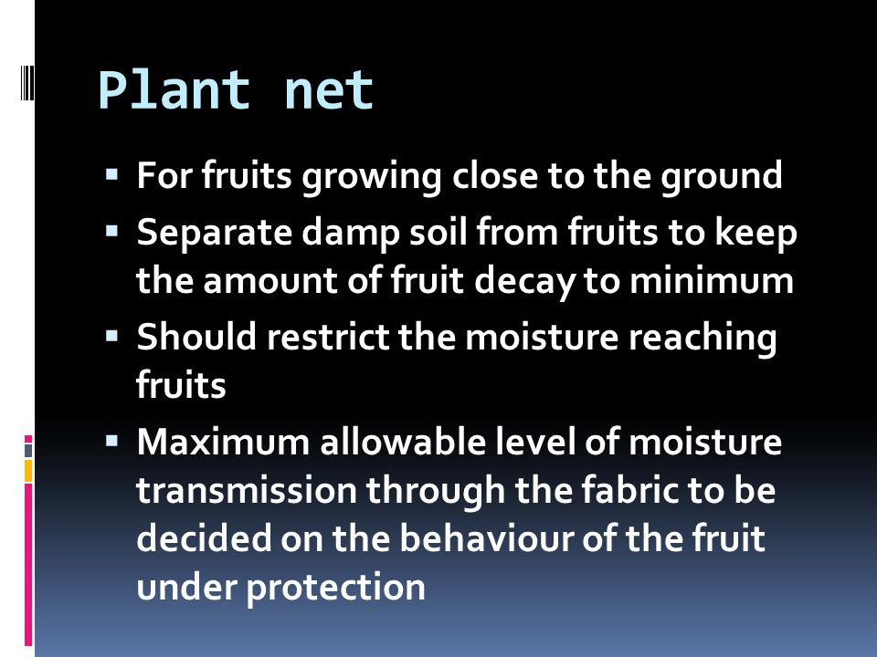 Plant net For fruits growing close to the ground