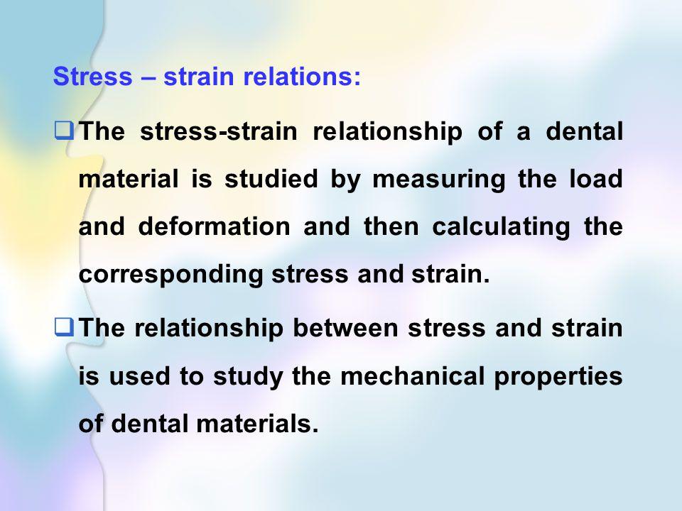 Stress – strain relations: