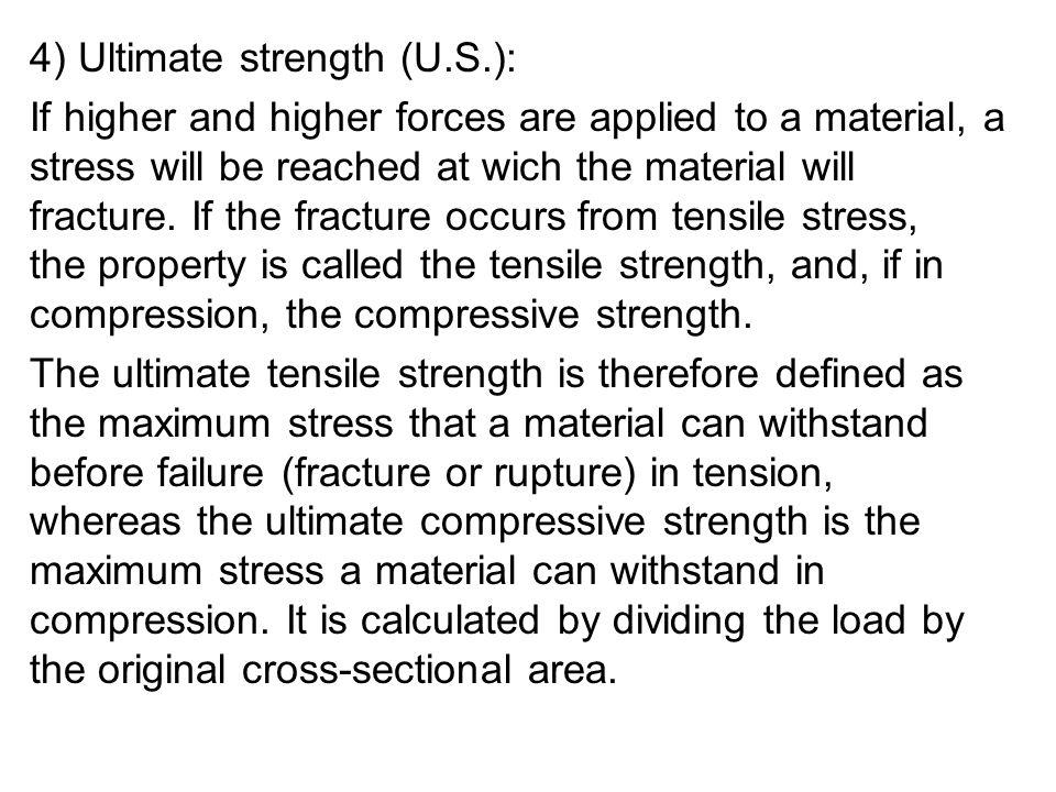 4) Ultimate strength (U.S.):