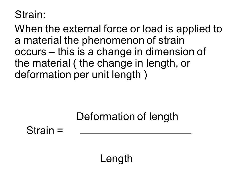 Strain: