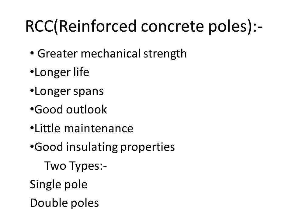 RCC(Reinforced concrete poles):-