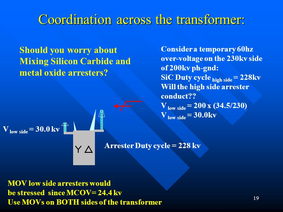 Coordination across the transformer:
