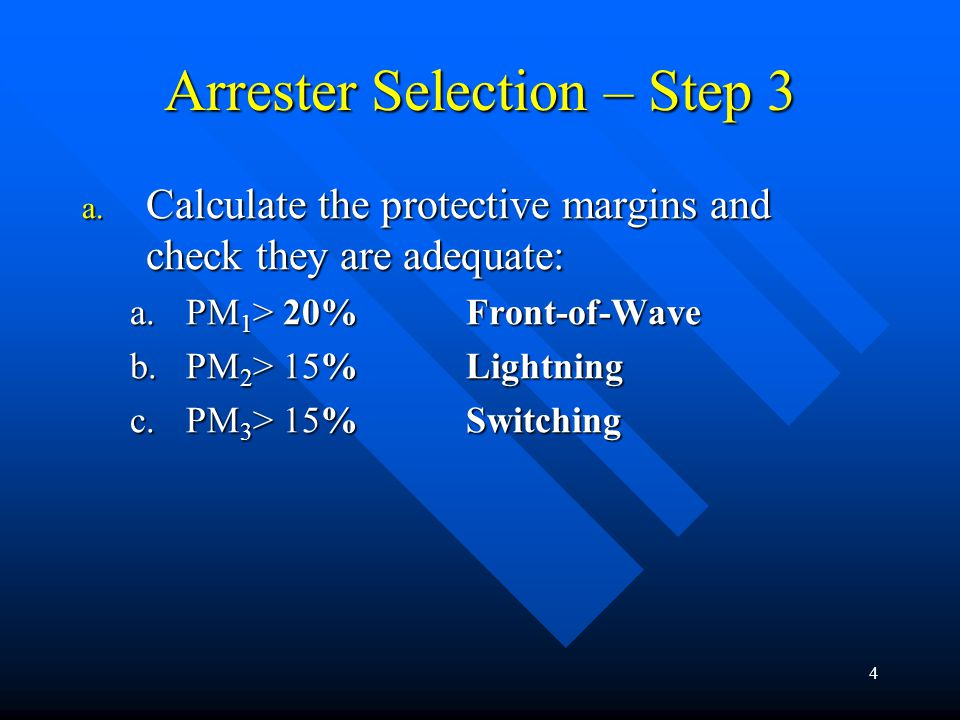 Arrester Selection – Step 3