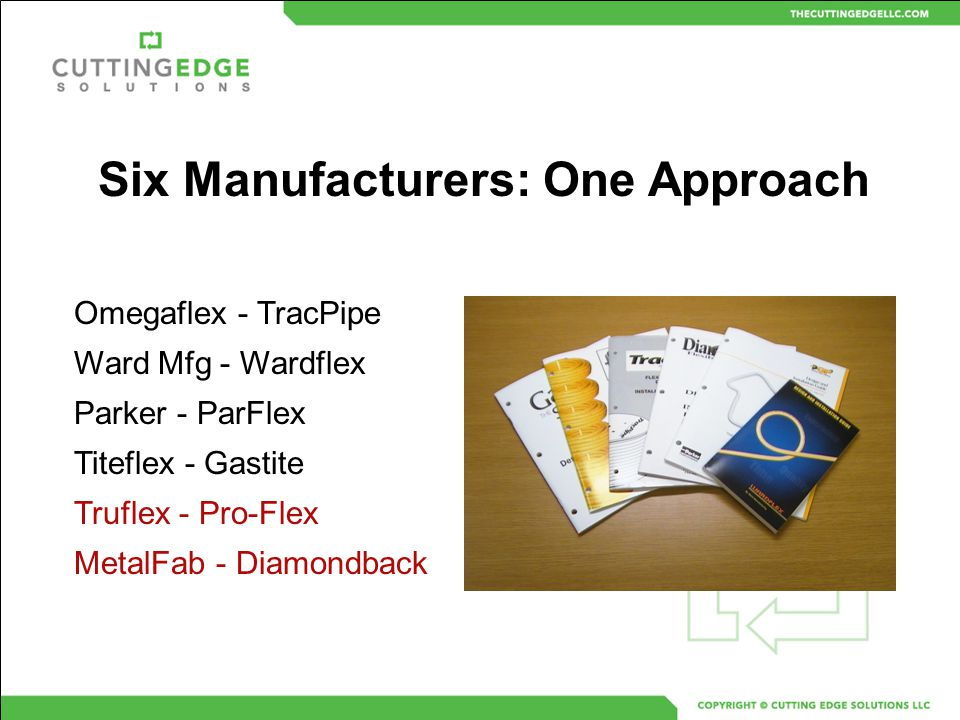 Six Manufacturers: One Approach