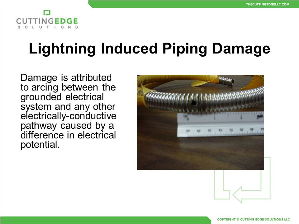 Lightning Induced Piping Damage