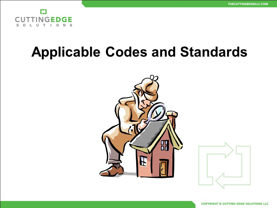 Applicable Codes and Standards