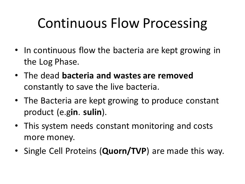 Continuous Flow Processing