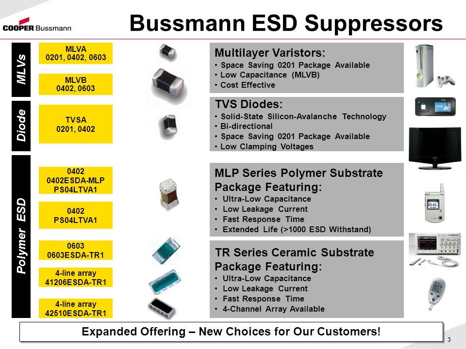 Bussmann ESD Suppressors
