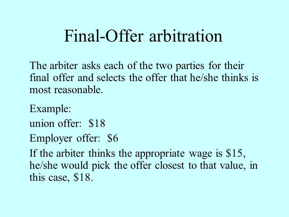 Final-Offer arbitration
