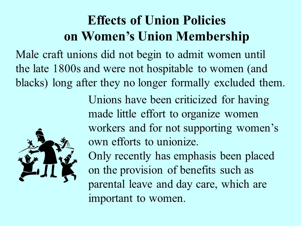 Effects of Union Policies on Women's Union Membership