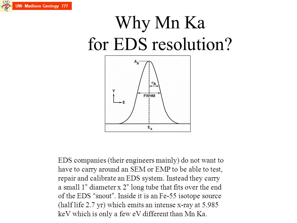 Why Mn Ka for EDS resolution