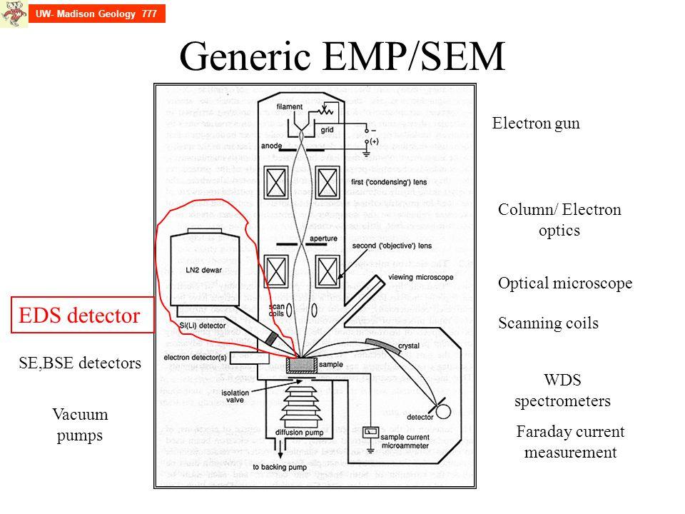 Generic EMP/SEM EDS detector Electron gun Column/ Electron optics