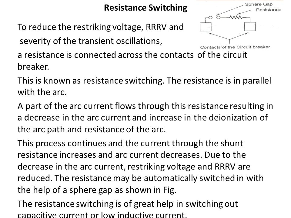 Resistance Switching