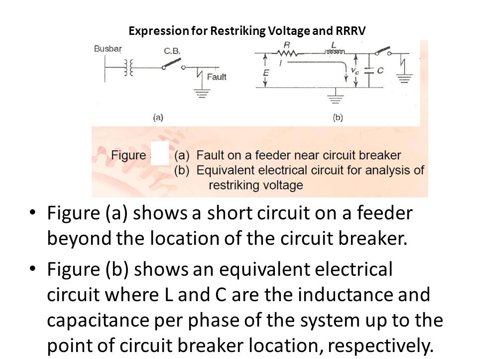 Expression for Restriking Voltage and RRRV