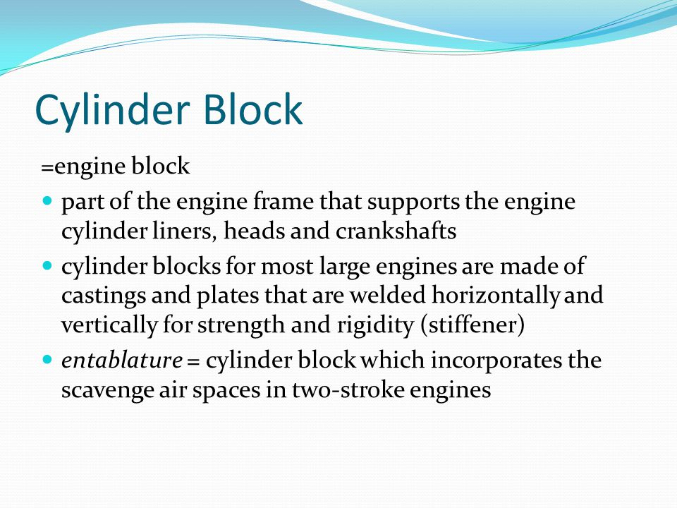 Cylinder Block =engine block