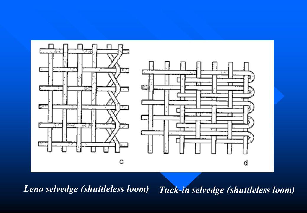 Leno selvedge (shuttleless loom)