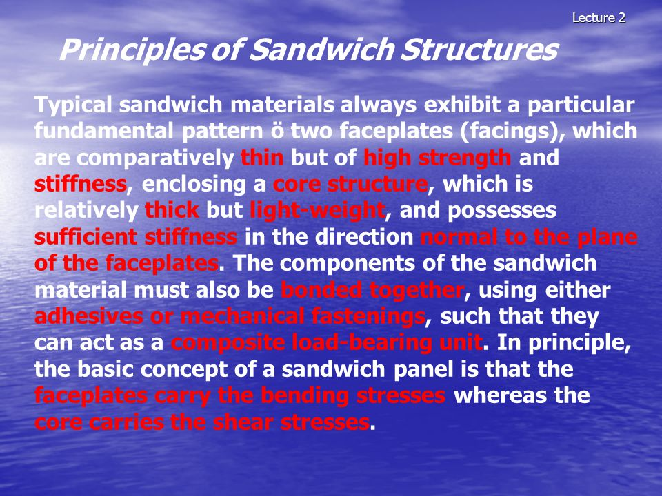 Principles of Sandwich Structures