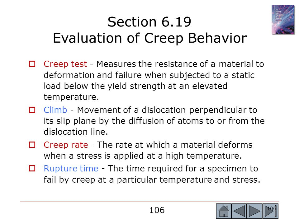 Section 6.19 Evaluation of Creep Behavior