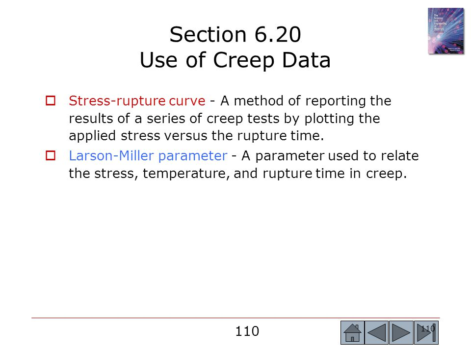 Section 6.20 Use of Creep Data