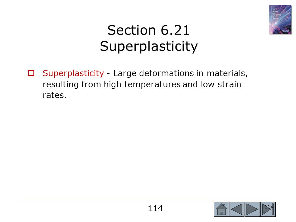 Section 6.21 Superplasticity