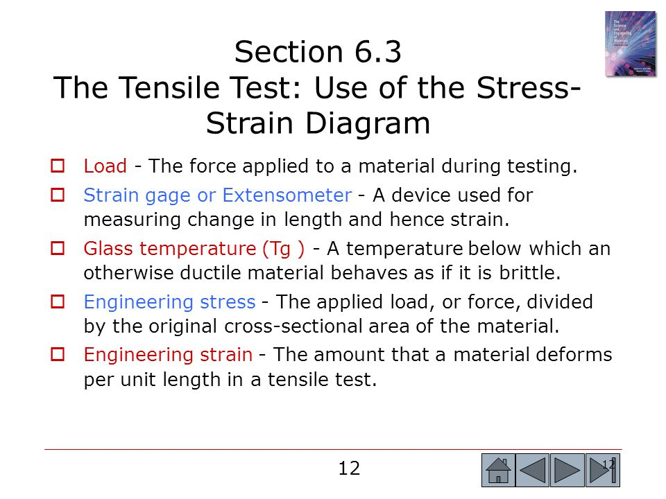 Section 6.3 The Tensile Test: Use of the Stress-Strain Diagram
