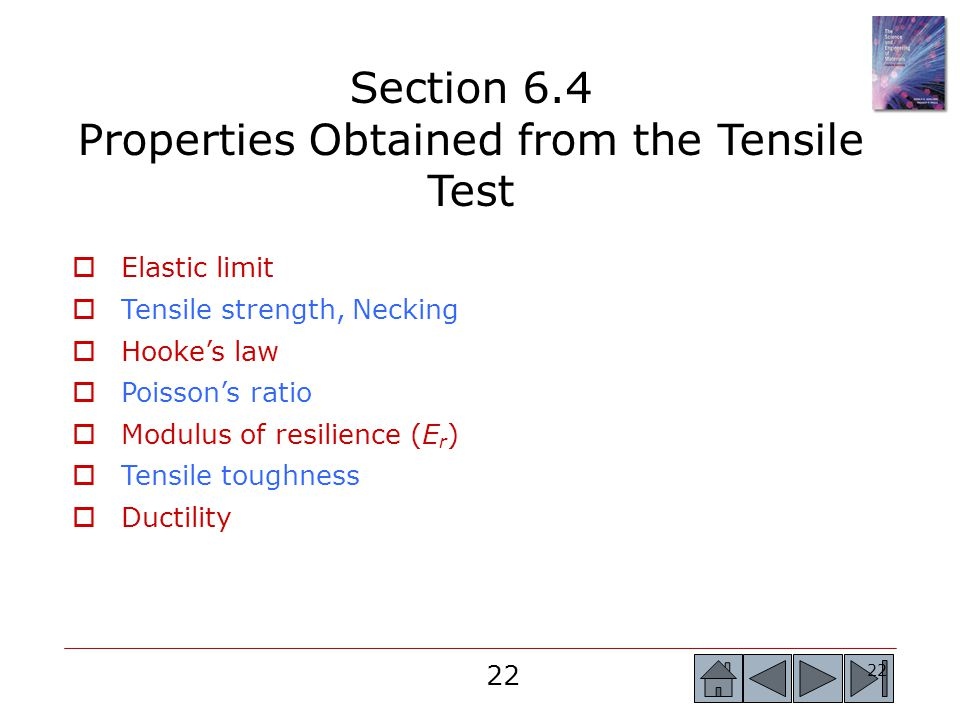 Section 6.4 Properties Obtained from the Tensile Test