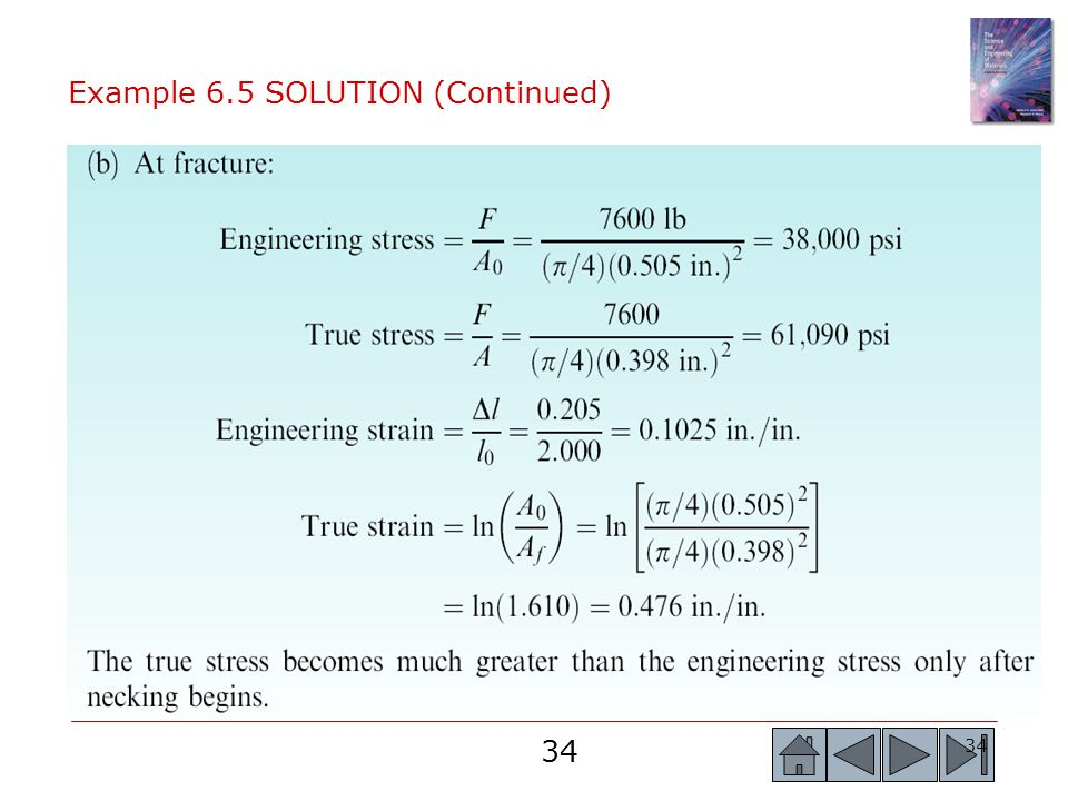 Example 6.5 SOLUTION (Continued)