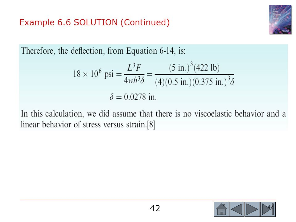 Example 6.6 SOLUTION (Continued)