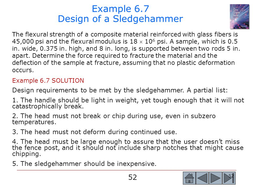 Example 6.7 Design of a Sledgehammer